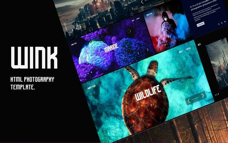 WINK - Photographer Portfolio Bootstrap Template