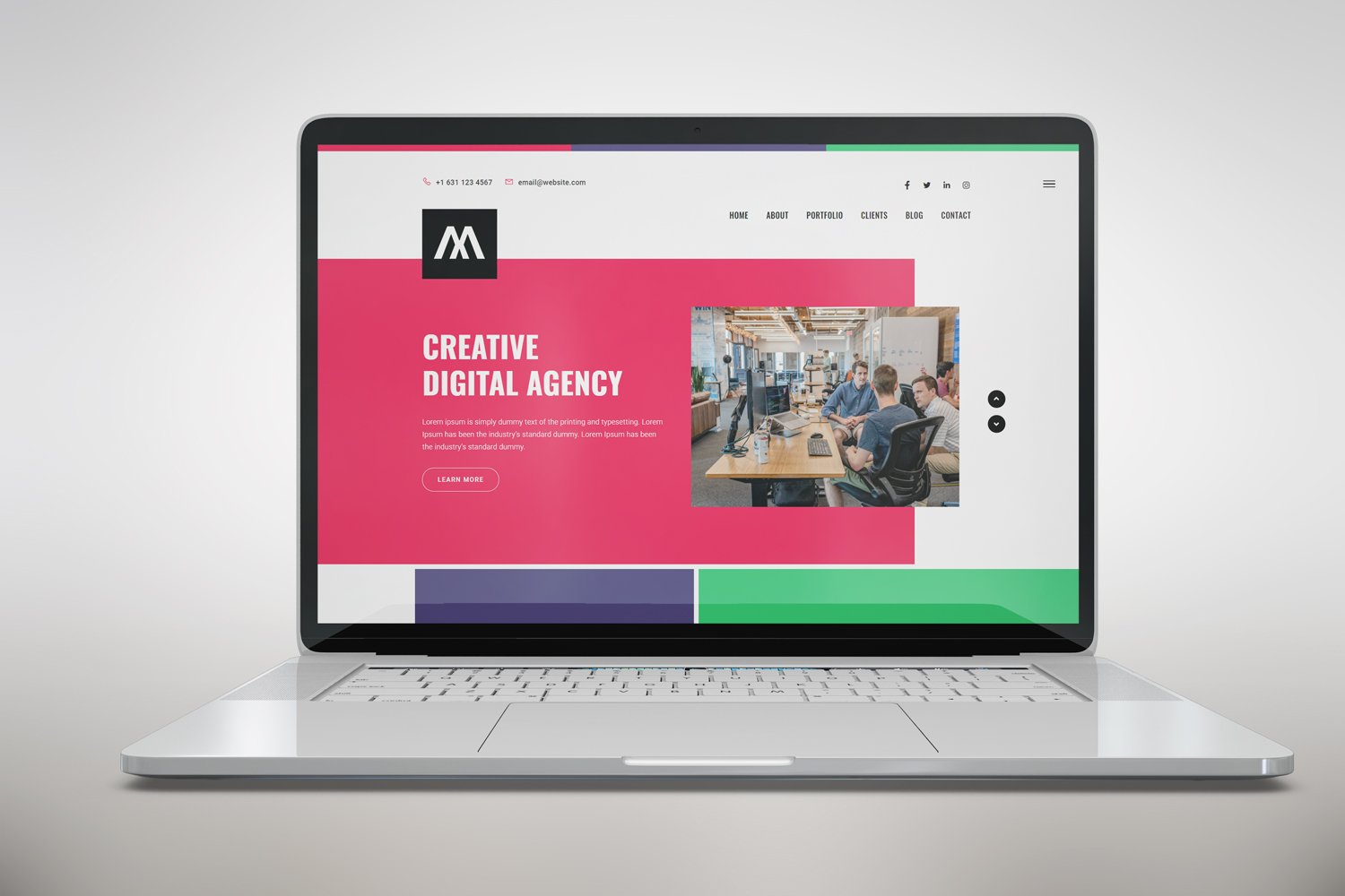 Creative Startup HTML5 Landing Page Template