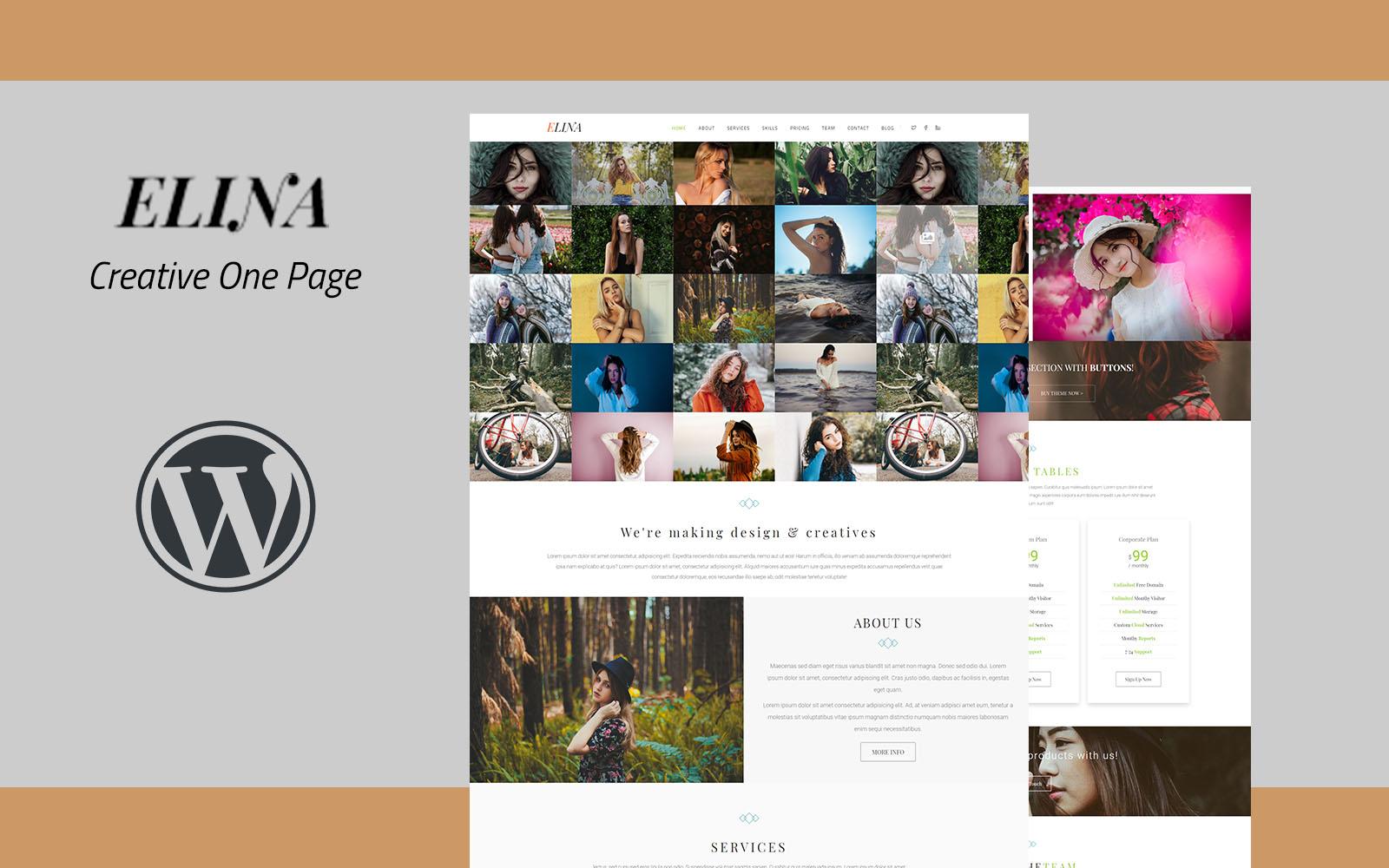 Elina - Creative One Page WordPress Theme