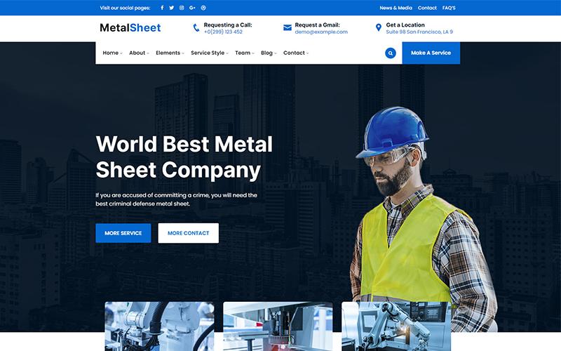 Metalsheet - Metal Sheet Responsive Website Template