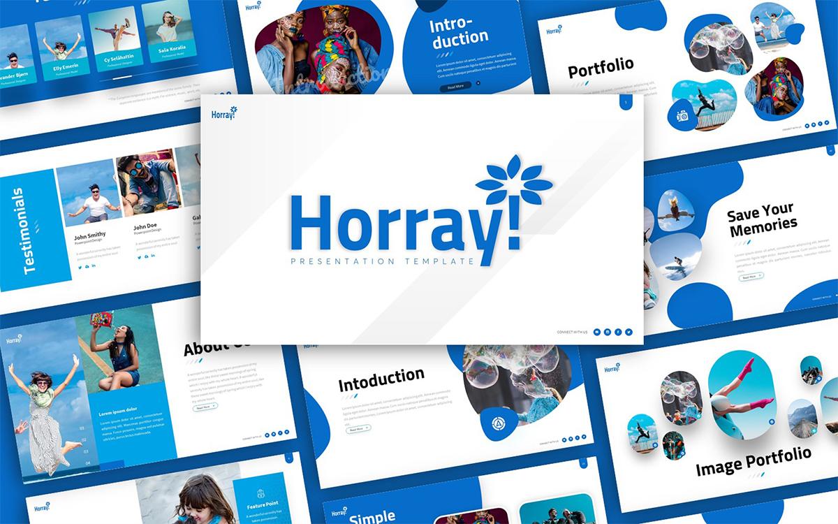 Hooray Fun Presentation PowerPoint template