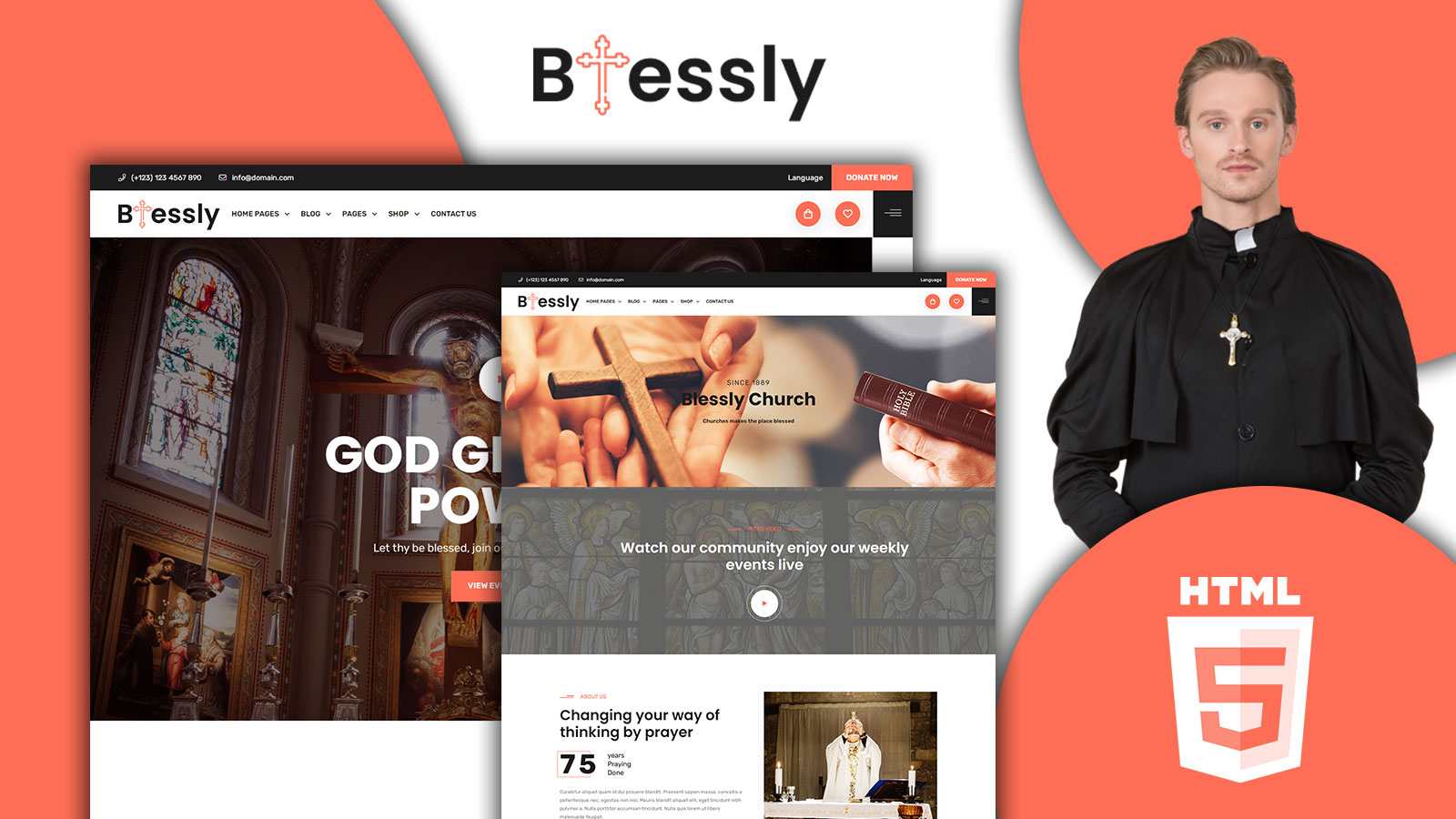 Blessly- Church and Donation HTML5 Template
