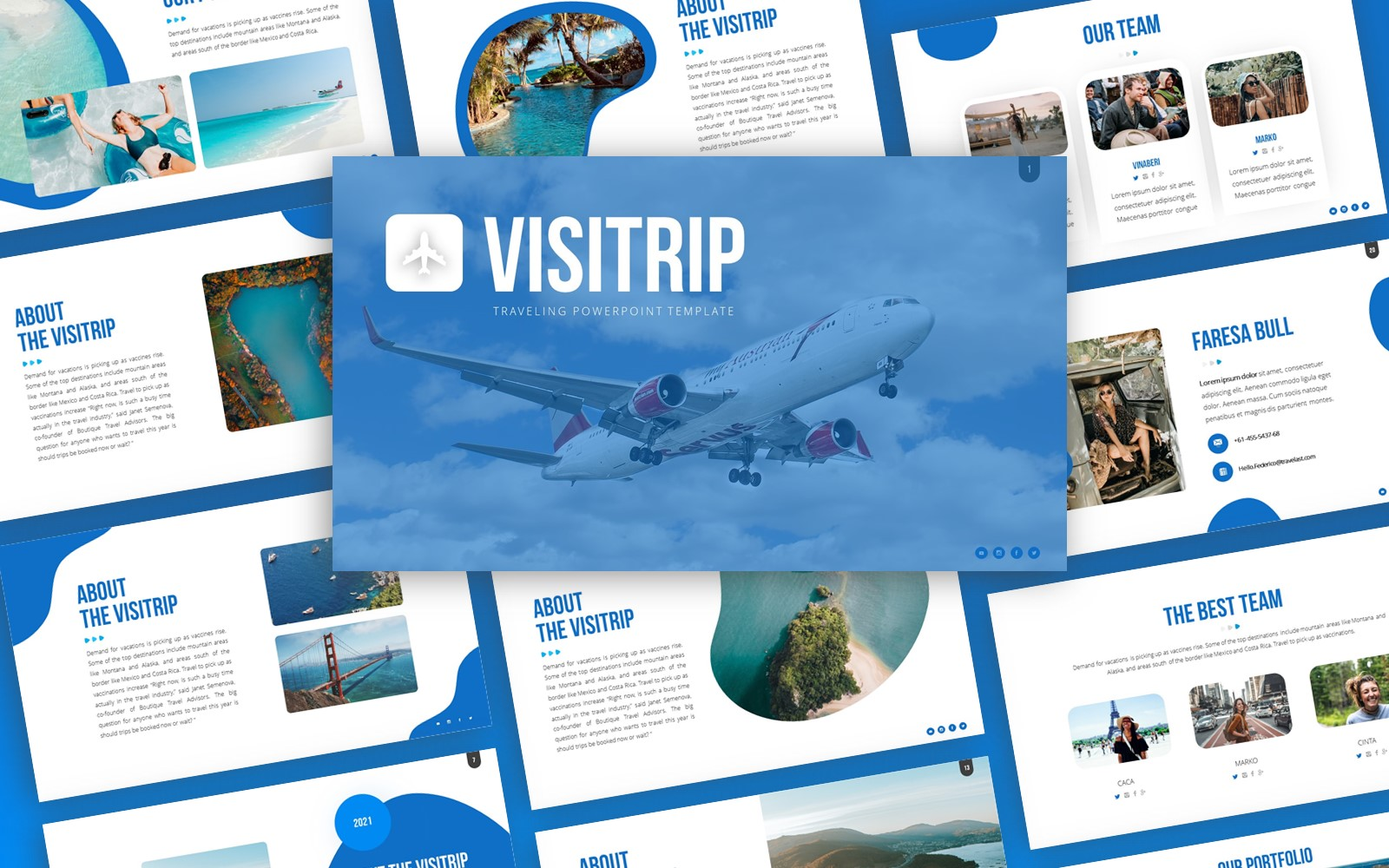 Visitrip - Traveling PowerPoint Template