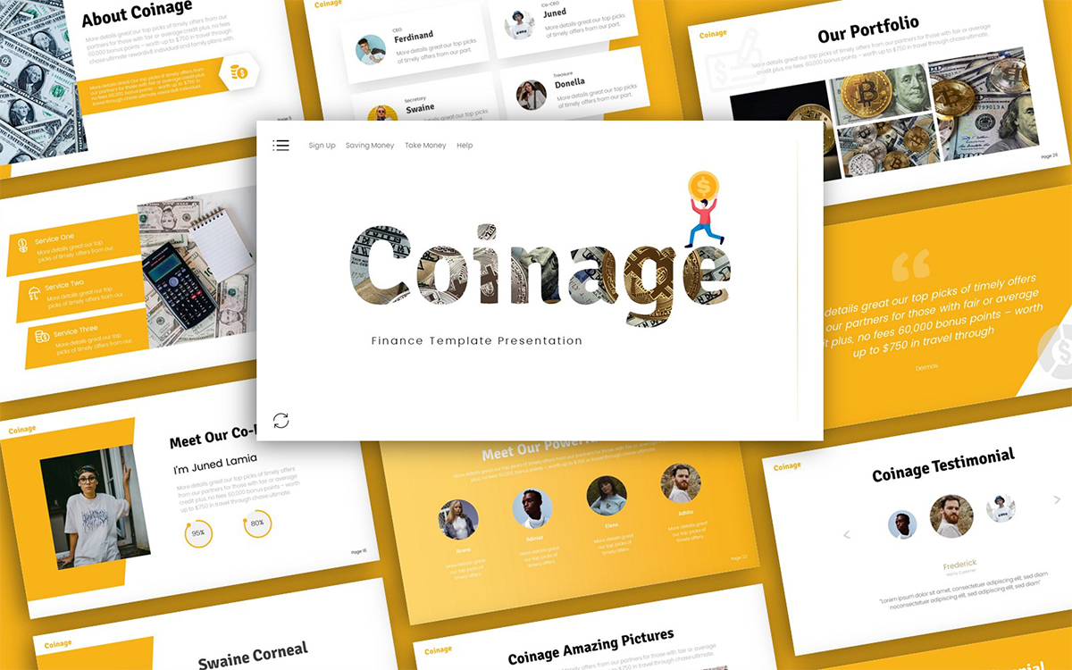 Coinage Finance Presentation PowerPoint Template