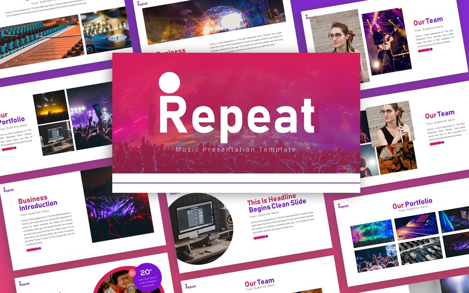 Repeat - Music Multipurpose PowerPoint Template