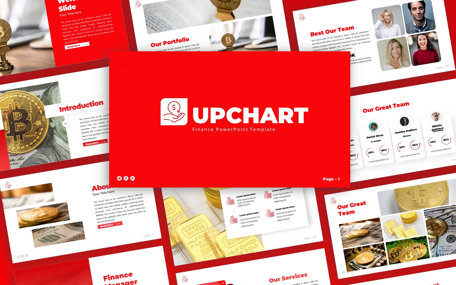 Upchart -  Finance Multipurpose PowerPoint Template
