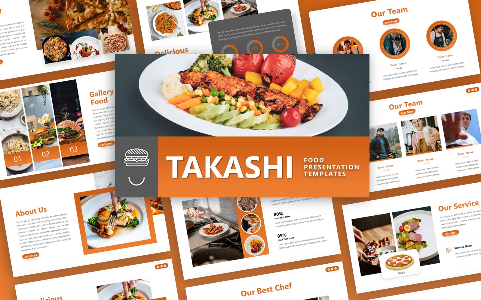 Takashi -  Culinary  Multipurpose PowerPoint Template