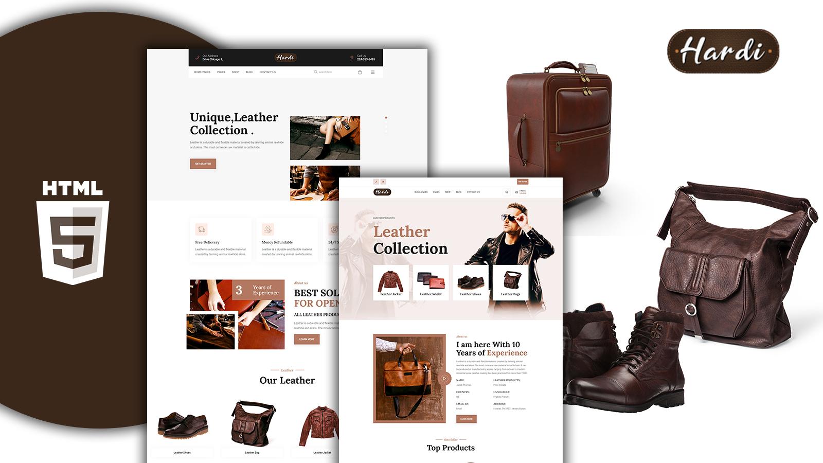 Hardi - Leather Shop Html Template