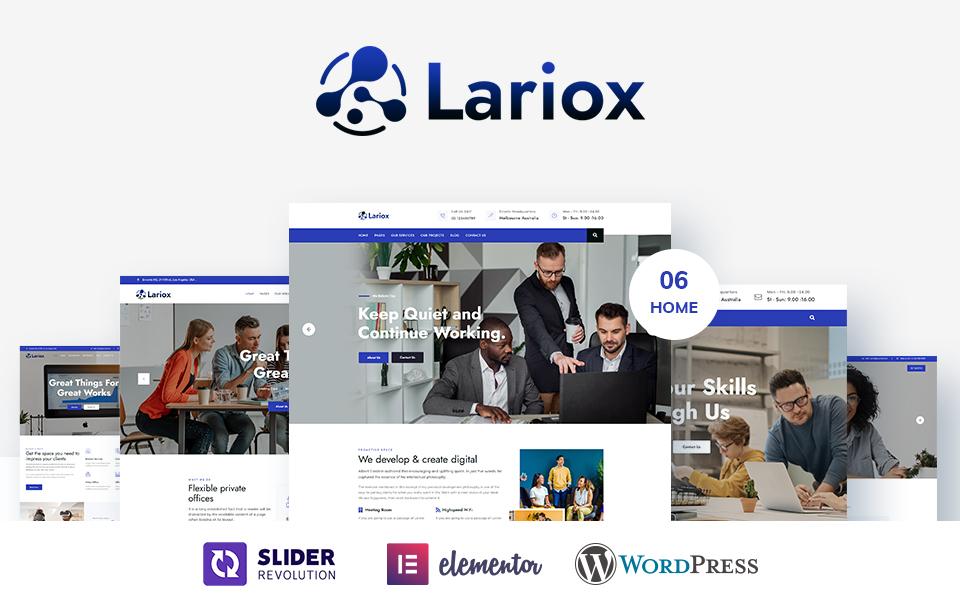Lariox - Corporate and Business WordPress Theme