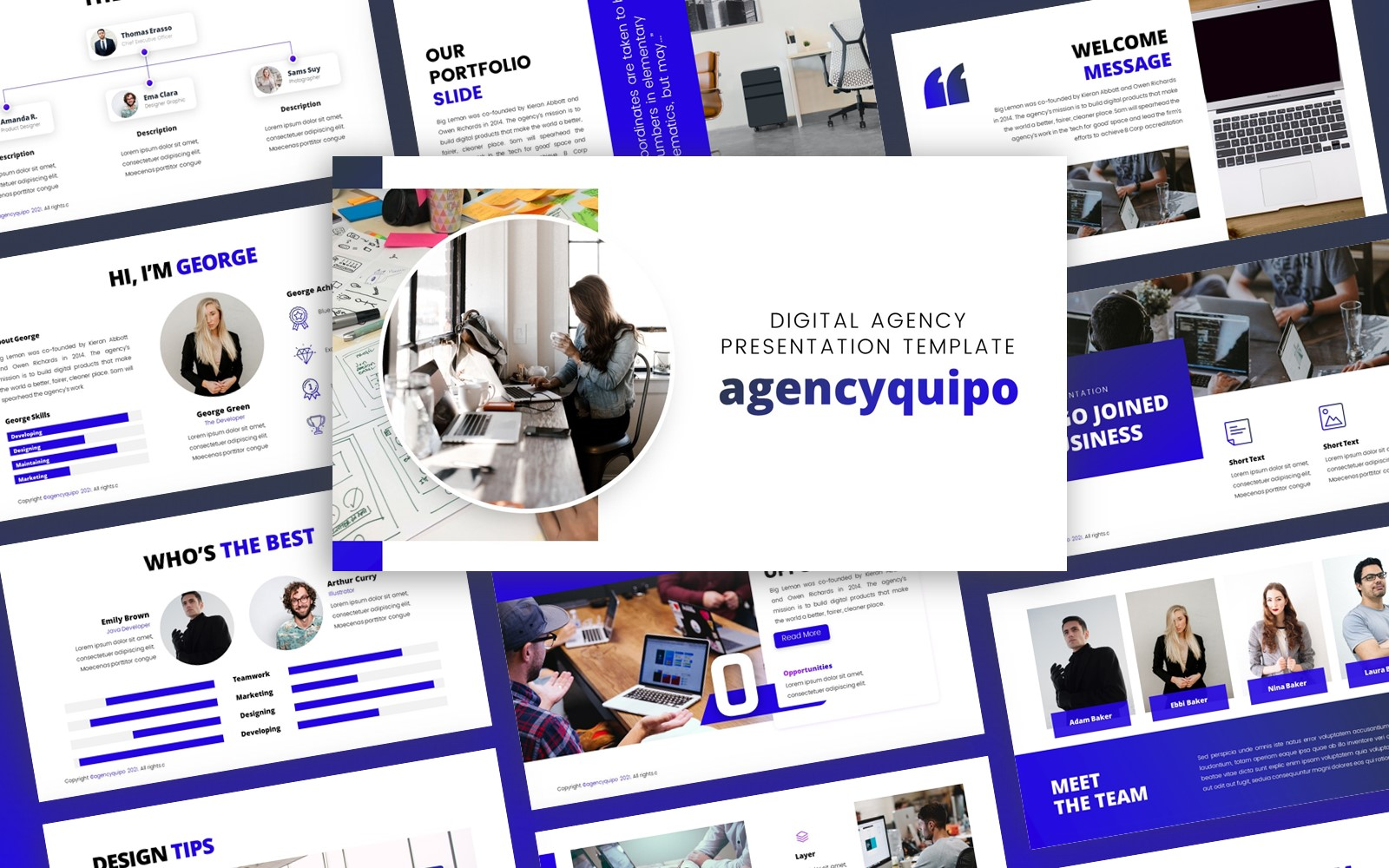 Agencyquipo - Design Agency Multipurpose PowerPoint Template