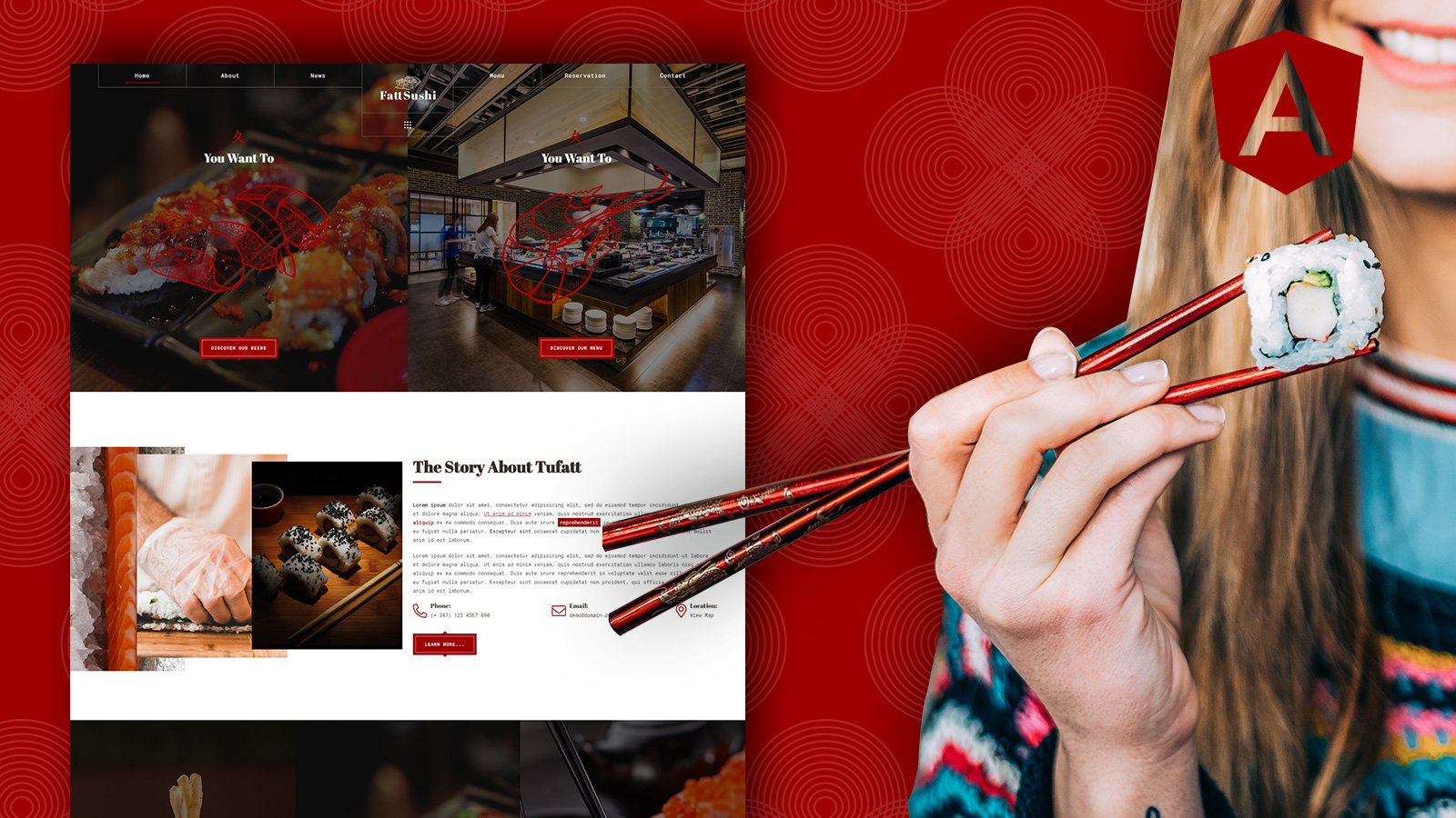 Fattsushi – Japanese Sushi Restaurant Angular JS Template