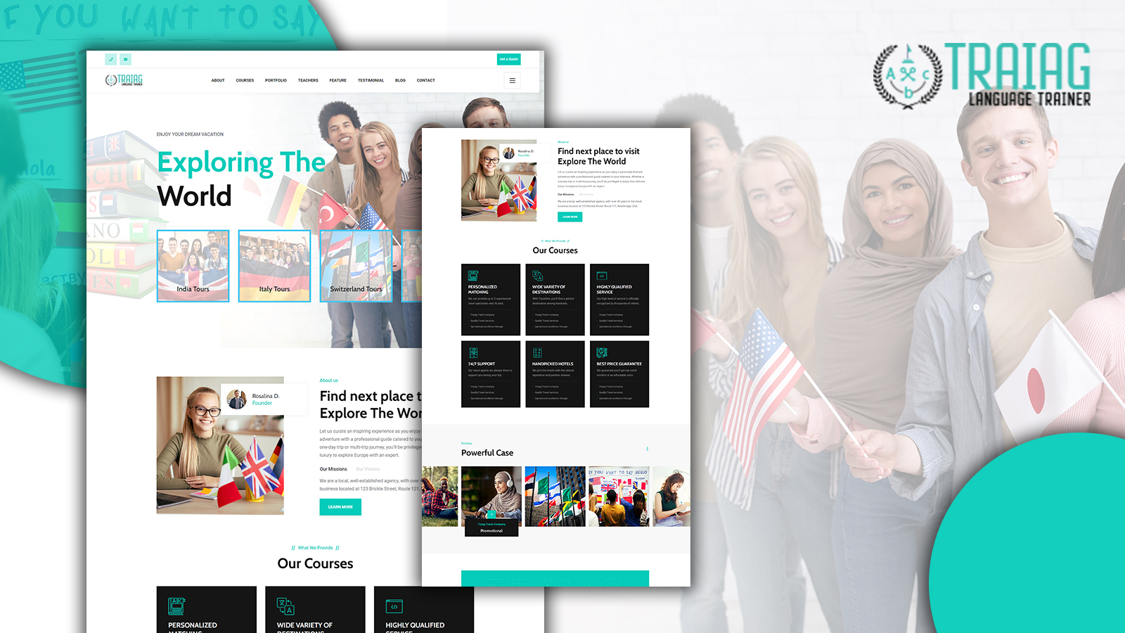 Traiag Translation Agency and Language Landing Page HTML5 Template