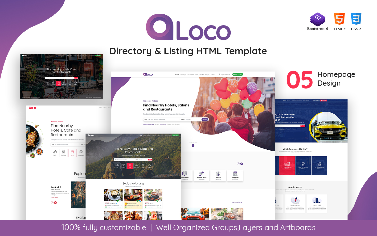 Loco - Directory Listing HTML Template