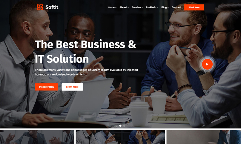 Softit - IT Solution Services and Technology Responsive Website Template