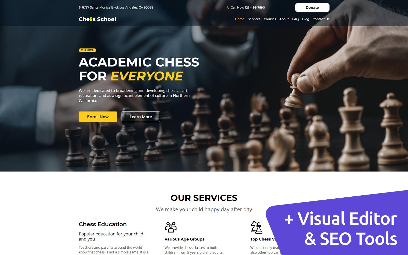 Chess MotoCMS Website Template