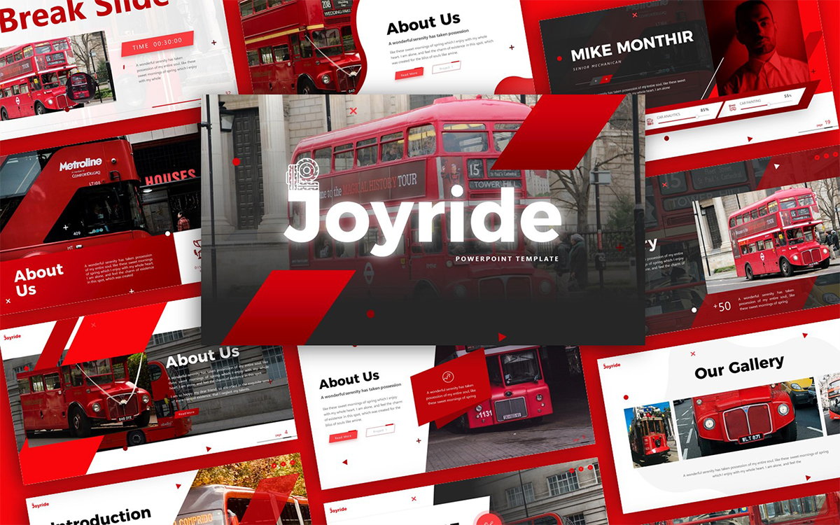 Joyride Transportation Presentation PowerPoint Template
