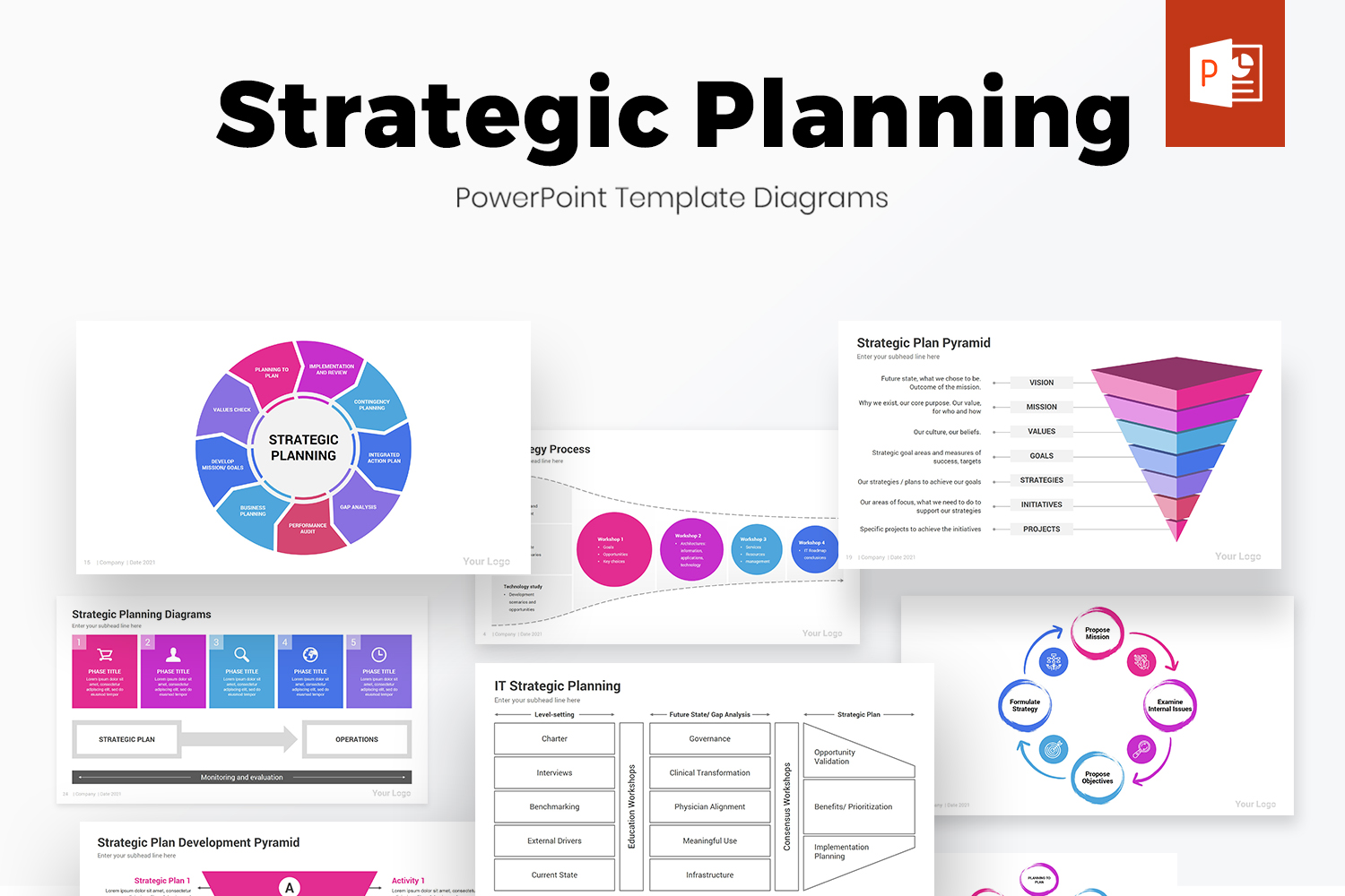 Strategic Planning PowerPoint Template Diagrams