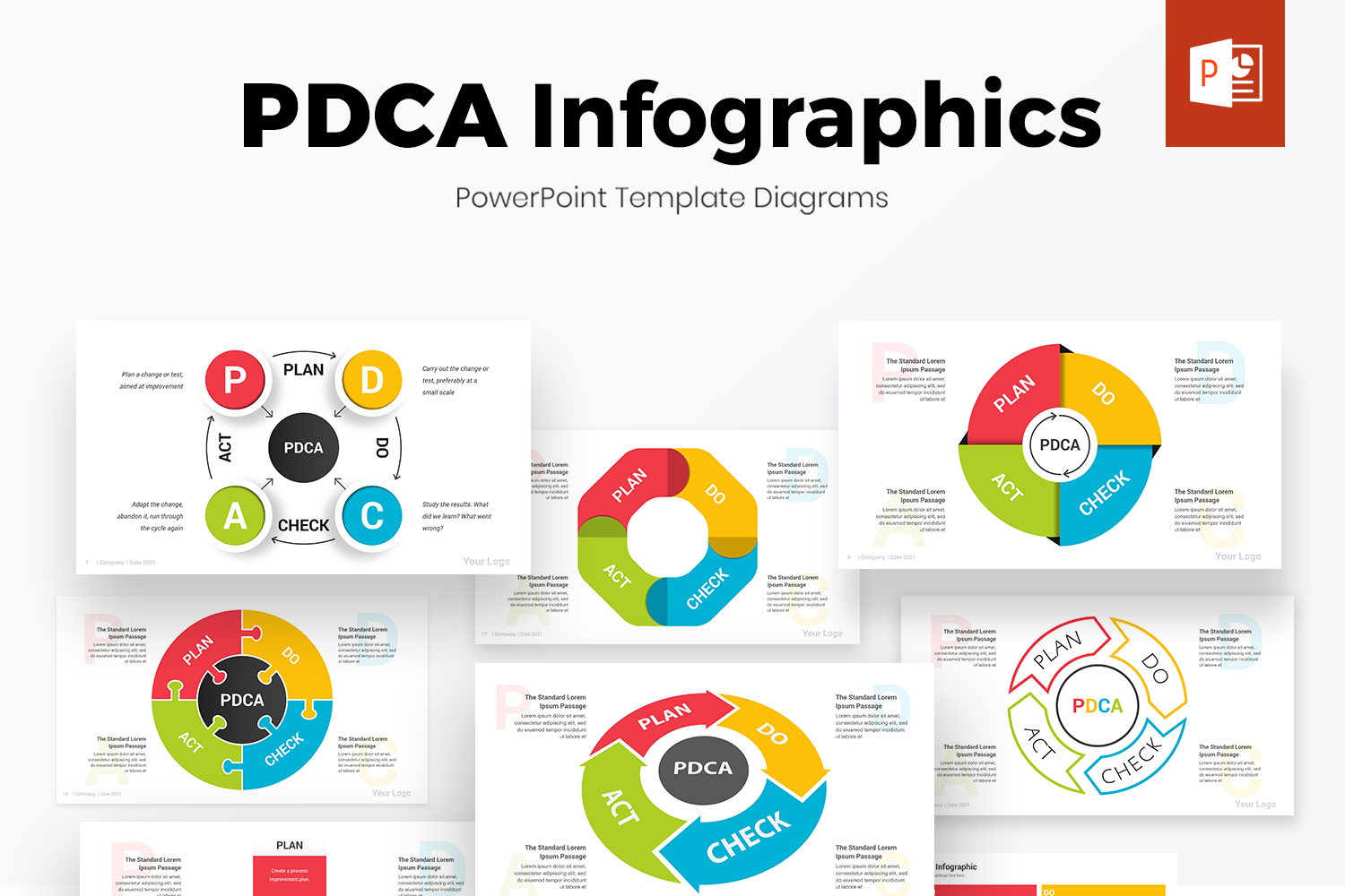 PDCA Cycle PowerPoint Infographics Template
