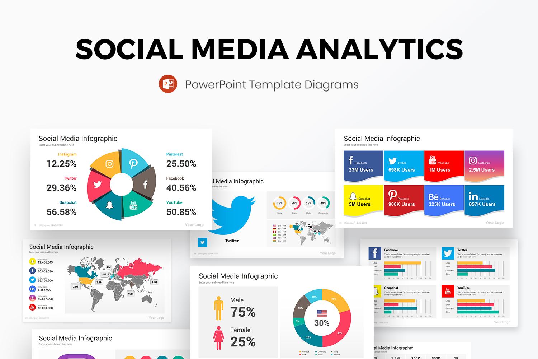 Social Media Analytics PowerPoint Diagrams Template