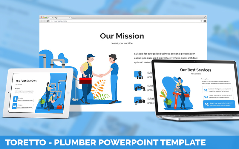 Toretto - Plumber Powerpoint Template