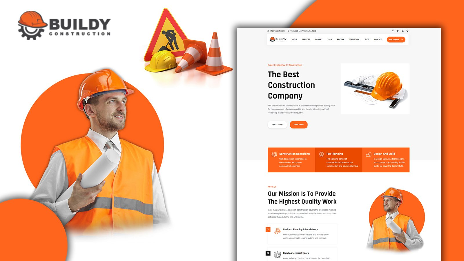 Buildy Modern Construction Landing Page HTML5 Template