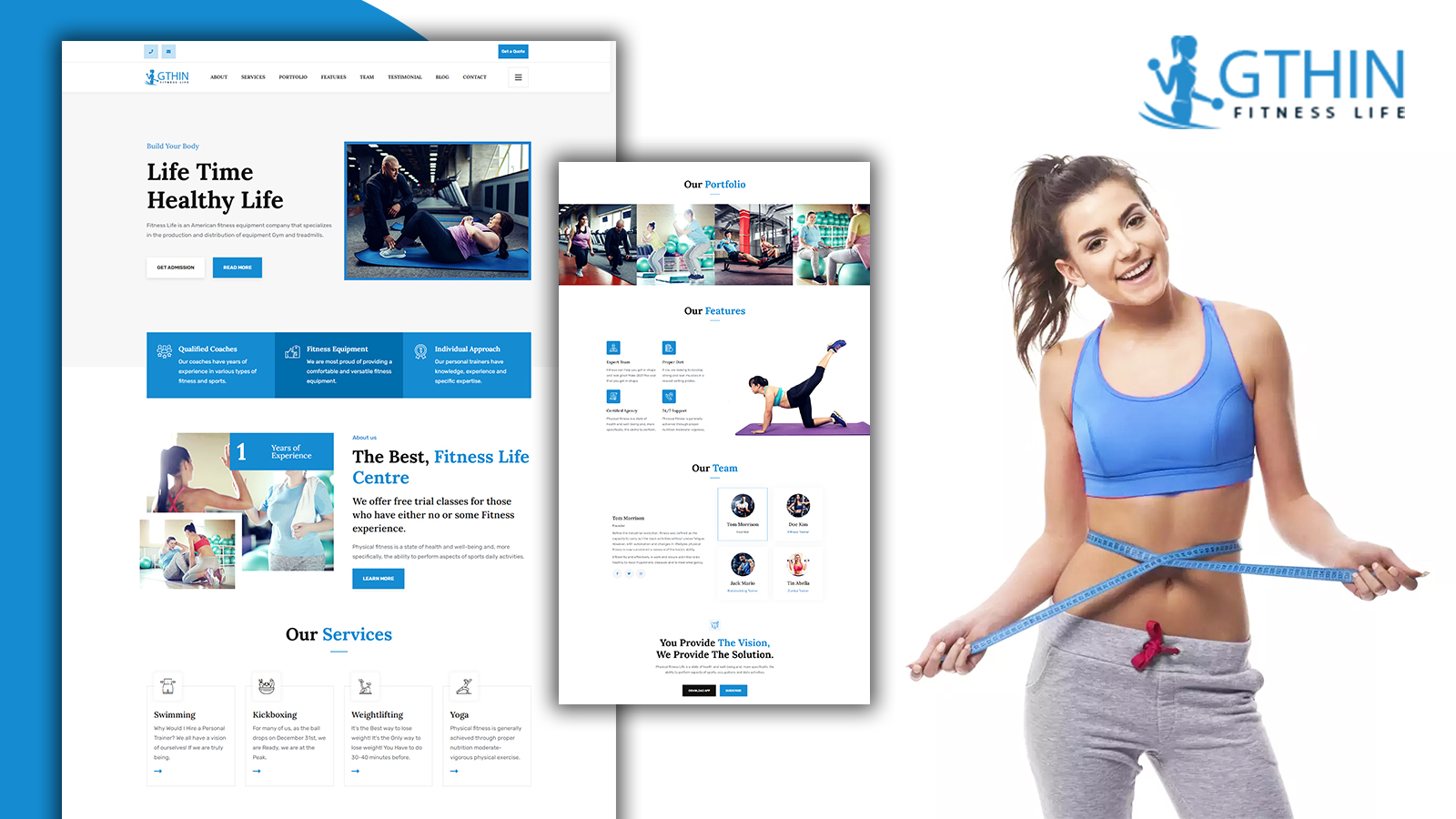 Gthin Fitness Center Landing Page HTML5 Template