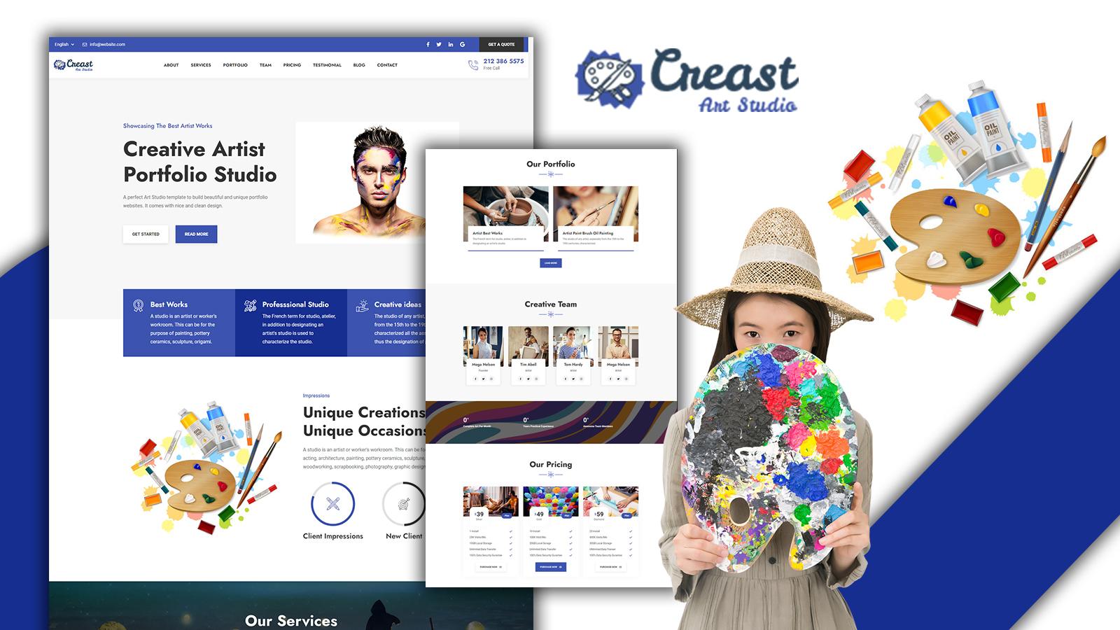 Creast Responsive Portfolio Landing Page HTML5 Template