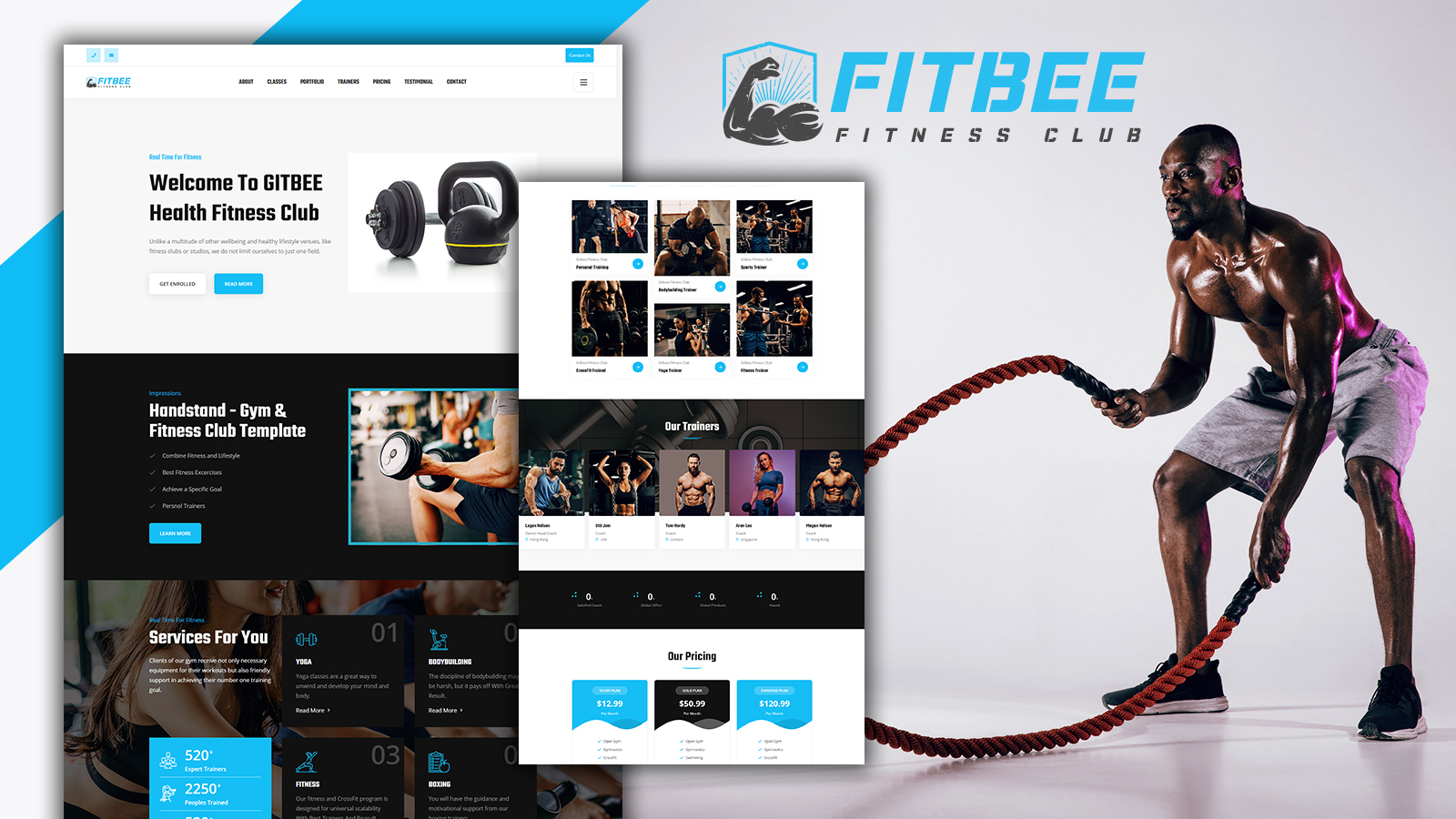 Fitbee Gym & Fitness Landing Page HTML5 Template
