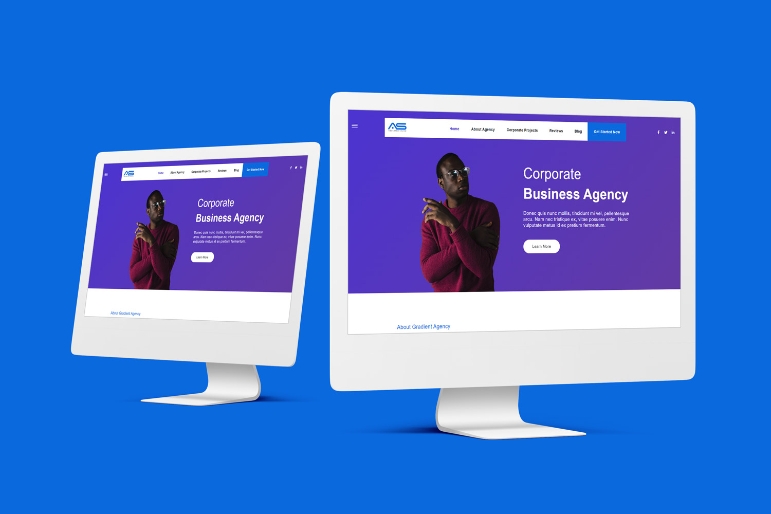 Shuvo   Gradient Agency HTML5 Landing Page Template