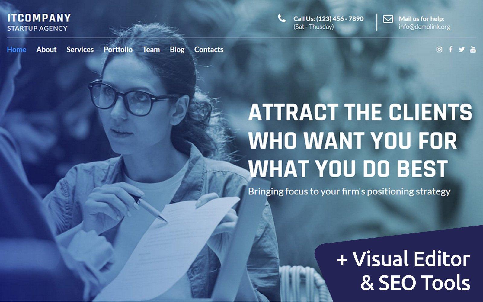 IT Company Startup Moto CMS Website Template