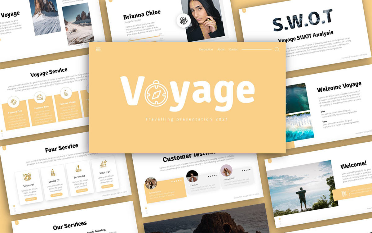 Voyage Traveling Presentation PowerPoint Template