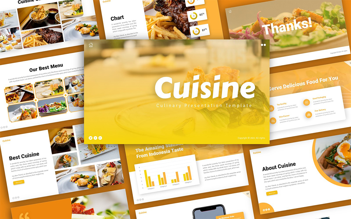 Cuisine Culinary Presentation PowerPoint Template