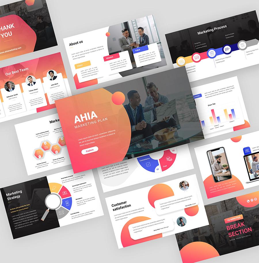 AHIA – Marketing Plan PowerPoint Template