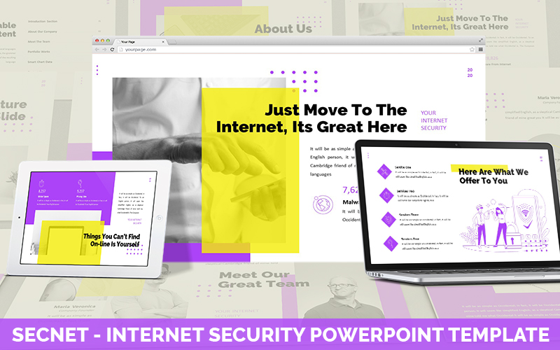 Secnet - Internet Security Powerpoint Template