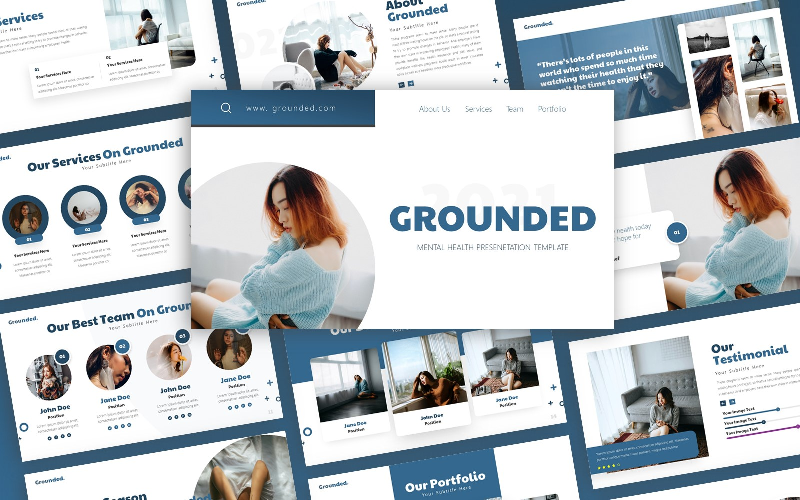Grounded - Mental Health Multipurpose PowerPoint Template