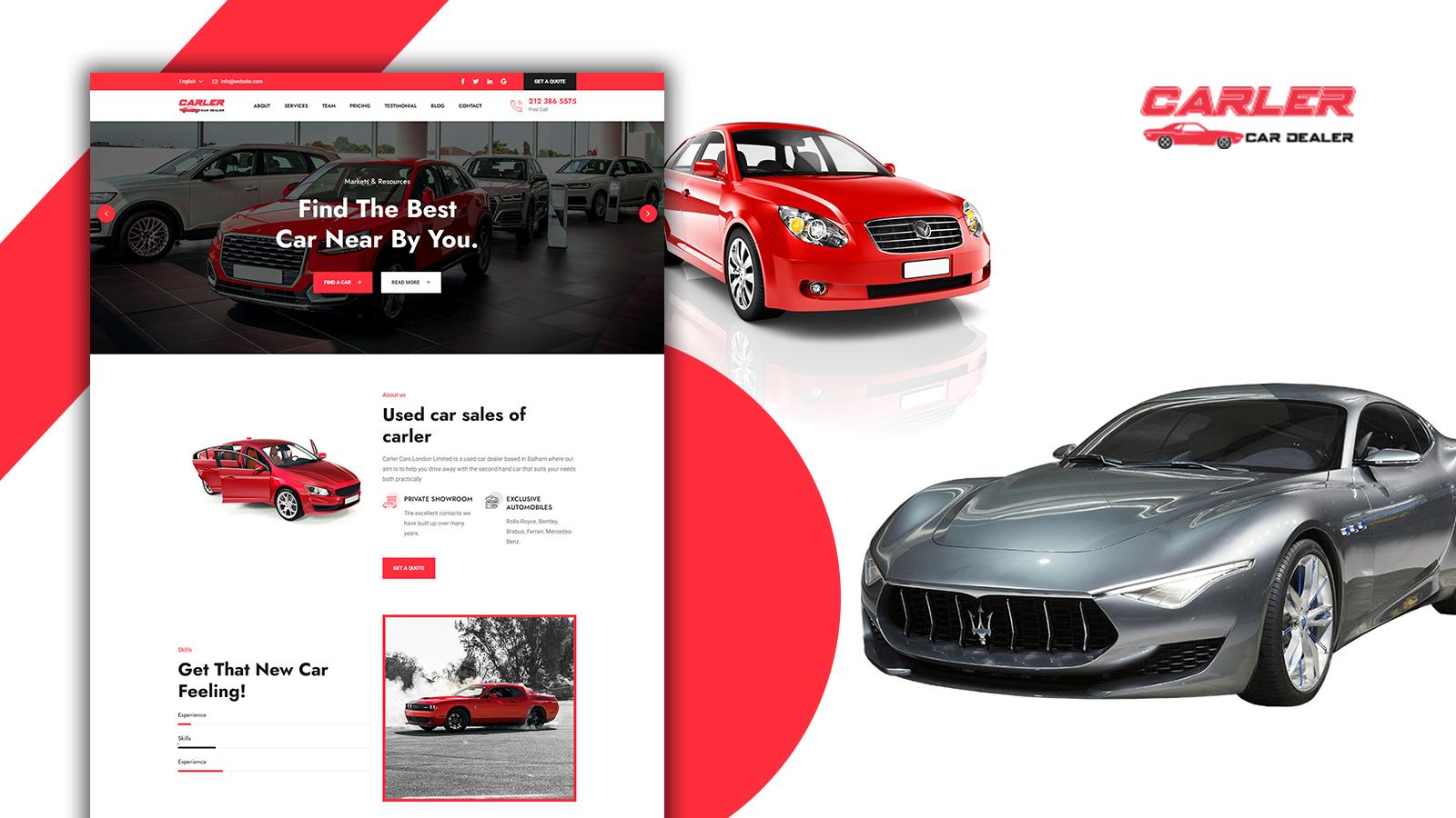 Carler - Car Dealer HTML5 Langing Page