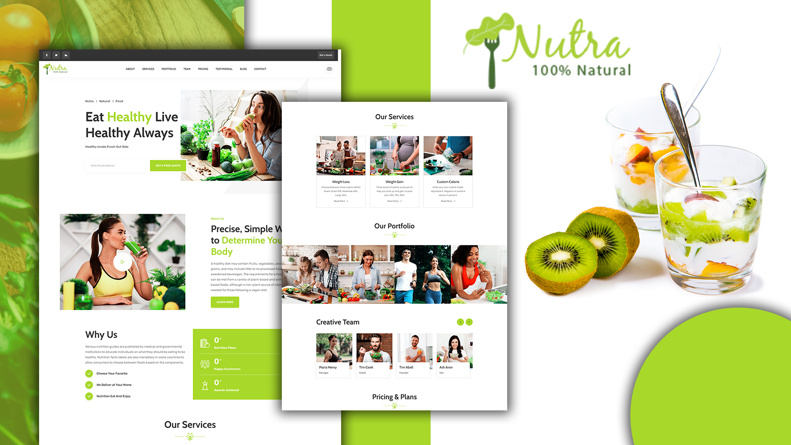 Nutra - Nutrition Services HTML5 Landing Page Template