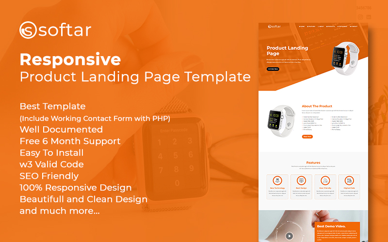 Softar – Landing Page Template