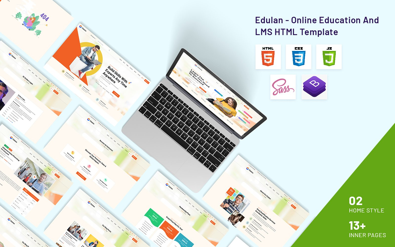 Edulan - Online Education And LMS HTML Template