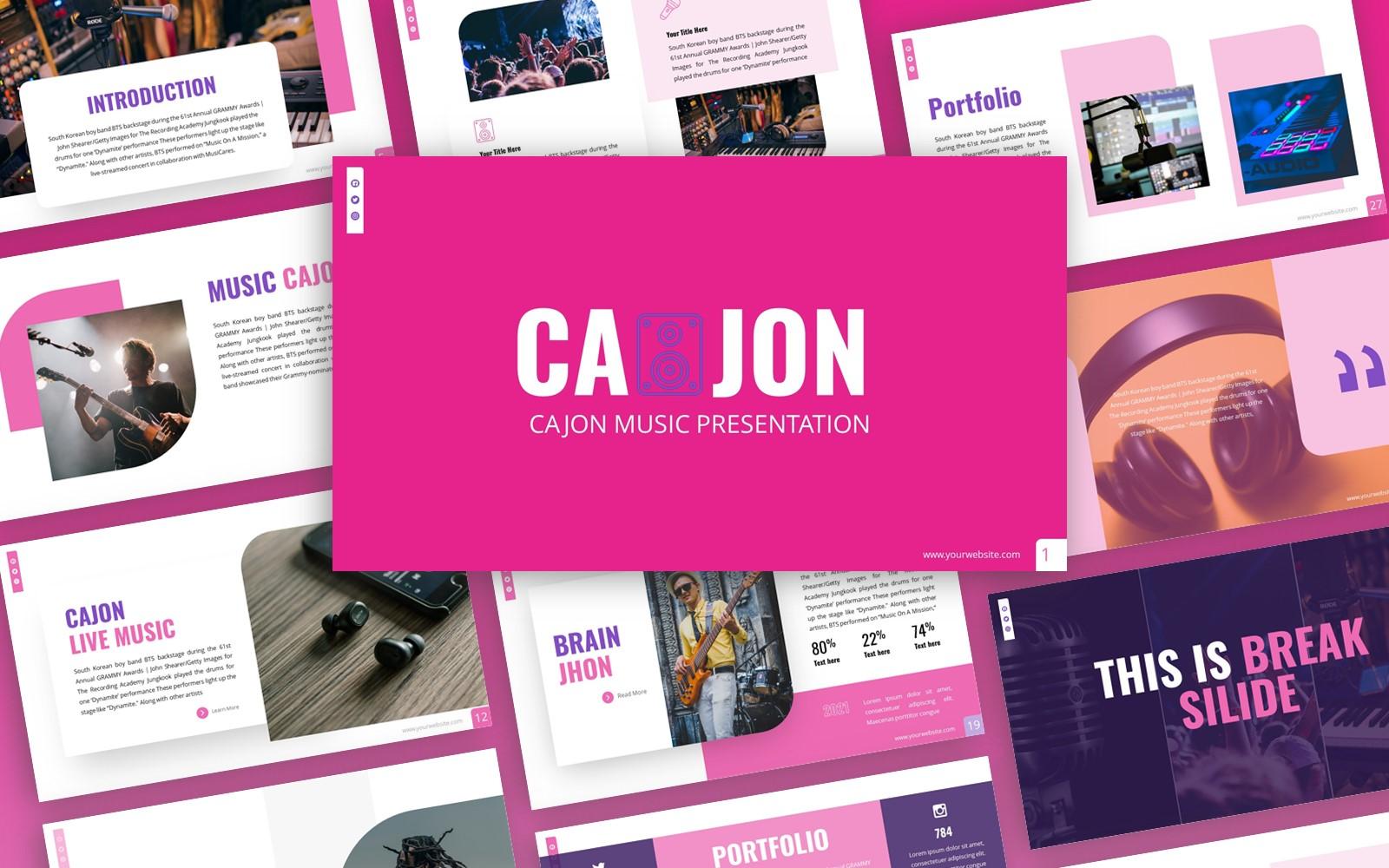 Cajon - Music Multipurpose PowerPoint Template