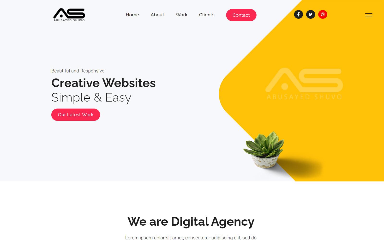 Abusayed | Digital Marketing HTML5 Landing Page Template