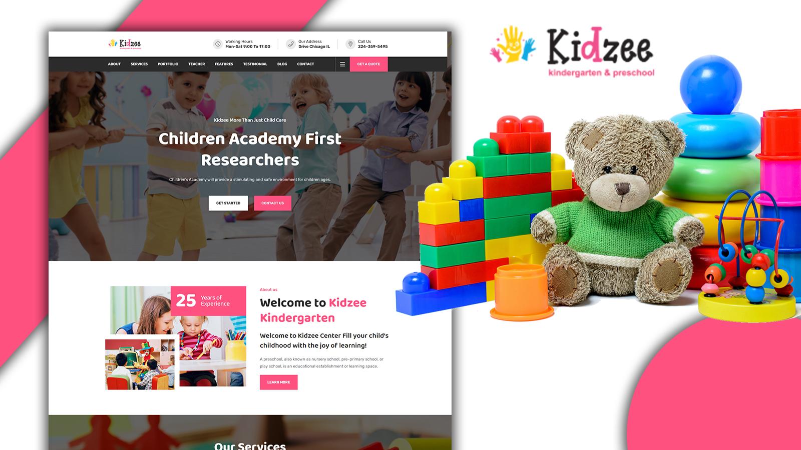 Kidzee - Kinder Garden HTML5 Landing Page Template