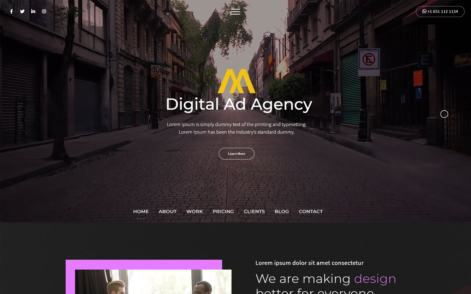 Shuvo | Ad Agency HTML5 Landing Page Template