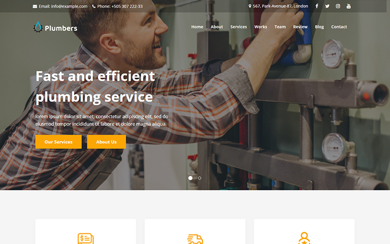 Plumbers - Plumbing & Repair Services Landing Page Template