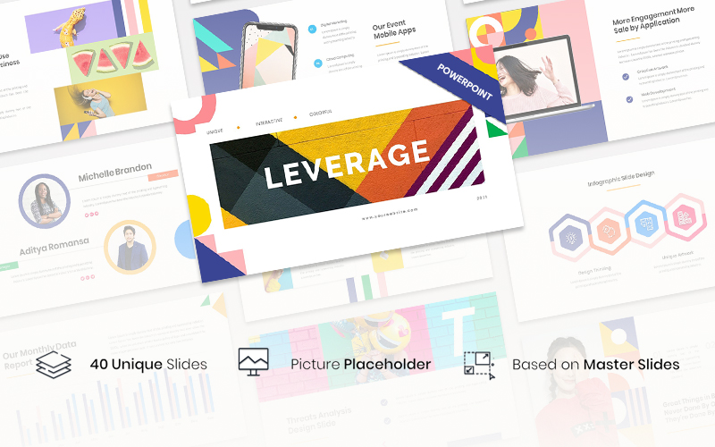 Leverage - Color Geometry PowerPoint Template