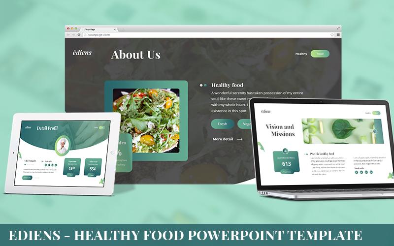 Ediens - Healthy Food Powerpoint Template