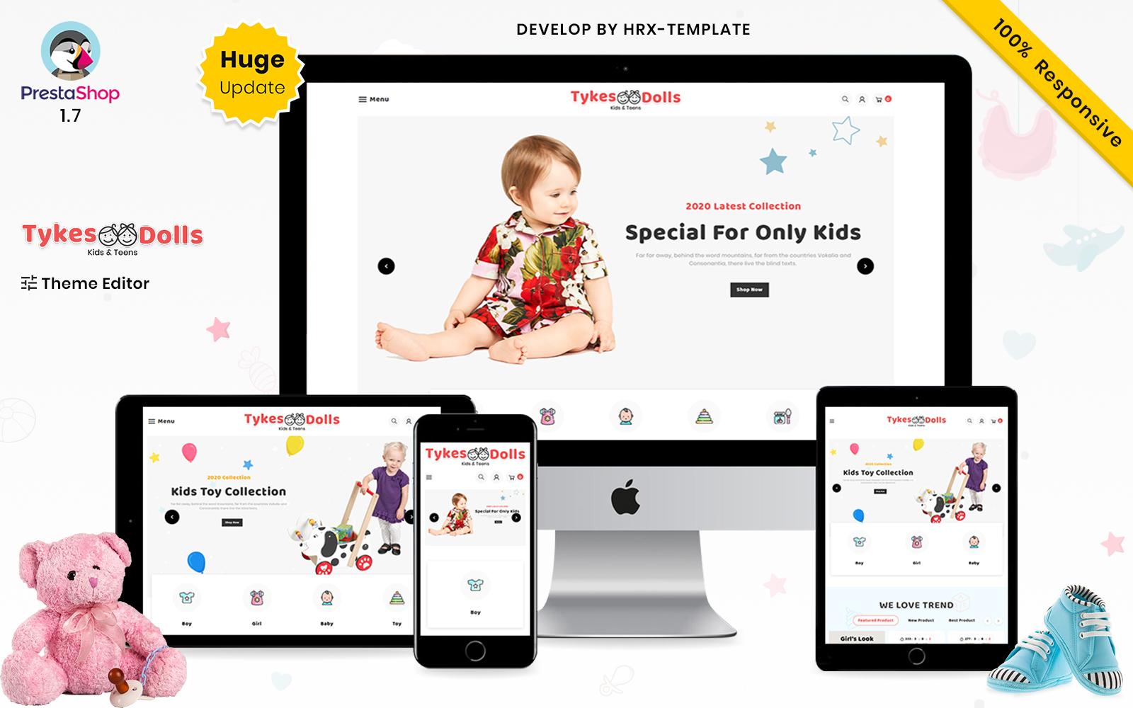 Tykes Dolls Mega Children Fashion Kids Store Prestashop Premium Themes