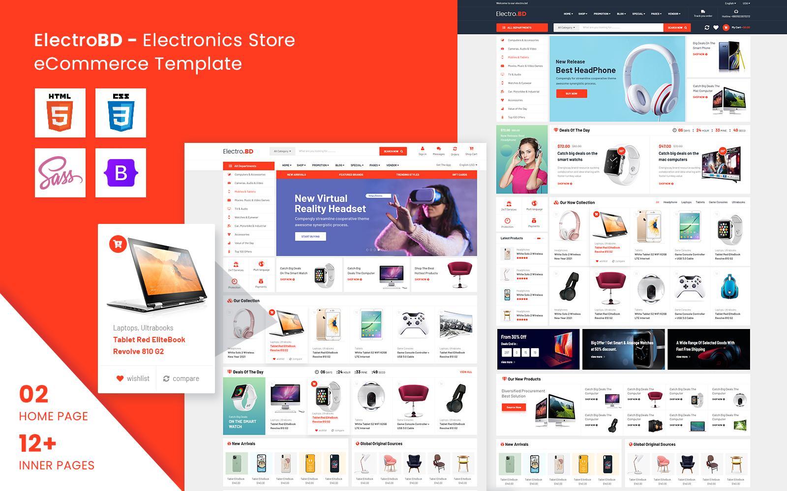 ElectroBD - Electronics eCommerce HTML Template