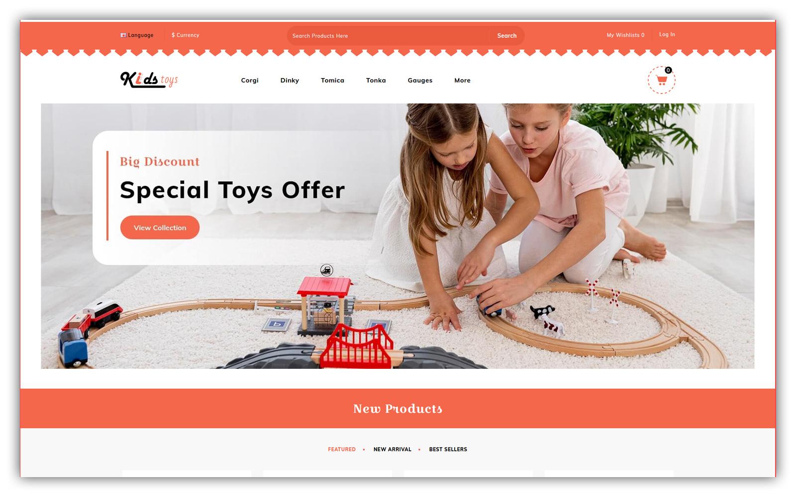 Kidstoys - Toys Store Opencart Theme