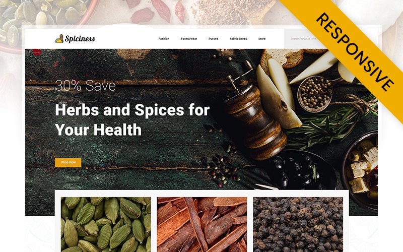 Spiciness - Spice Food Store Opencart Template